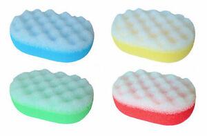 5 Stück Badeschwamm Massage Schwamm Wellness Reinigung Pflege Körperpflege oval