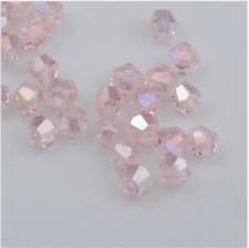 Free shippin100pcs 4mm swarovski crystal 5301# Bicone Beads,pink ab