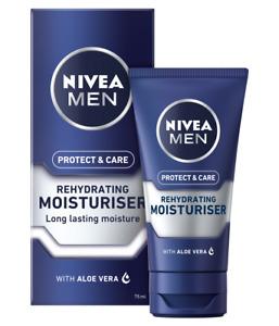 NIVEA MEN Protect & Care Rehydrating Moisturiser Face Cream 75ml with Aloe Vera