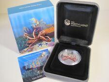 2012 AUSTRALIAN SEA LIFE II THE REEF: OCTOPUS 1/2 oz SILVER PROOF COIN