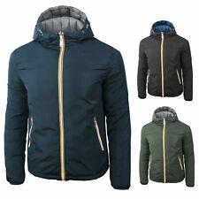 Giubbotto uomo invernale piumino cappuccio blu nero grigio S M L XL XXL