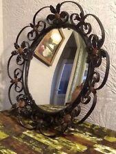 Vintage/Retro Metal Frame Round Decorative Mirrors