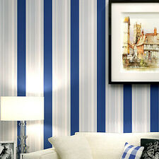 papel de parede Modern Grey White Blue stripes Wallpaper roll Classic Wall paper