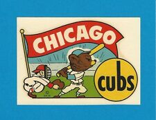 "RARE OLD ORIGINAL 1948 GOLDFARB ""CHICAGO CUBS"" BASEBALL WATER DECAL ART MINTY"