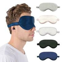 1XSilk Sleep Eye Mask Cover Padded Blindfold Soft Fancy Travel Relax Comfortable