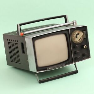 """Vintage Sony Micro TV 5-303E 5-303 Black & White 5"""" [1960s] *SOLD AS IS*"""