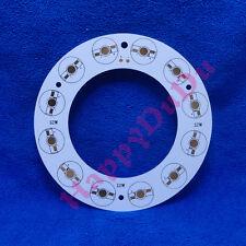 12W Round Ring Aluminum PCB 138mm for LED Lamp Light Bulb Spotlight 12x1W 12x3W