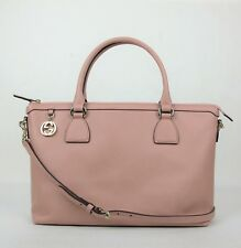 Gucci Soft Pink Leather GG Charm Convertible Straight Bag w/strap 449659 5806