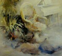 Willem HAENRAETS (*1940) Farb-Litho-? hand-SIGNIERT:  INSPIRATION I  (Interieur)