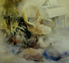 Willem HAENRAETS (*1940) Farb-Litho-? hand-SIGNIERT:  INSPIRATION I  (Interieur)