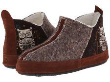 Acorn Slipper Forest Bottie Women's Chocolate Owl Medium (M, B)
