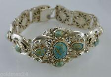 antikes Damenarmband mit Türkis / versilbert