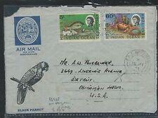 BRITISH IDIAN OCEAN TERRITORY (P1210B) 1973 FORMULA AEROGRAMME TPO 5C FISH+60C C