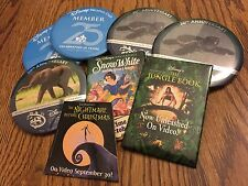 Disney Button Dvc Animal Kingdom Jungle Book Snow White Nightmare Lot of 8 New
