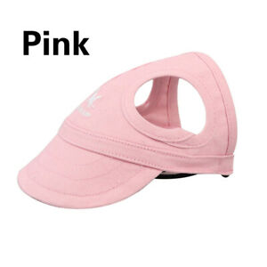 Summer Pet Puppy Dog Baseball Hat Dog Sun Cap With Ear Holes Breathable Outdoor