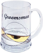 Premium Handmade Beer Mug Tankard 500ml Glass Groomsman | Wedding Gift