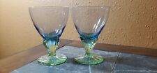"Bormioli Rocco BAHIA Champagne/Tall Sherbet Glasses Goblets 5 1/2"" Set of 2"