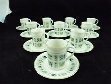ROYAL DOULTON- SERVICE TAPESTRY- 10 TASSES A CAFE ET SOUCOUPES