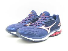 Mizuno Wave Rider 20 Men's Running Shoes Blue/Silver/Red Size 8.5