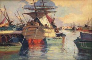 Renzo Martini (Livorno 1937-2005) - pittura a olio: Marina