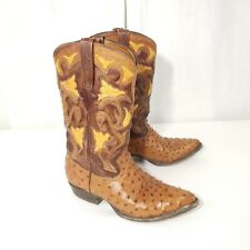 Cuadra Western Cowboy Boots Leather Ostrich Men's 6.5 Women's 8