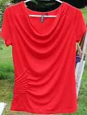 Women's Red Shirt by Allie & Rob; Size S