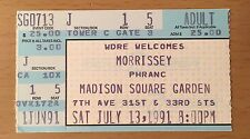1991 Morrissey New York City Msg Concert Ticket Stub Kill Uncle Tour The Smiths