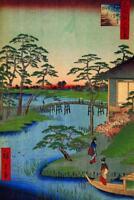 Utagawa Hiroshige Mokuboji Temple Art Print Mural inch Poster 36x54 inch
