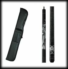 New Action ADV101 Pool Cue Stick - Black w/Grim Reaper 18 - 21 oz & Case