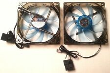 (Lot of 2 pcs) Blue Fans 4 Blue LED 120mm Quiet w/Screws 12V DC Brushless New
