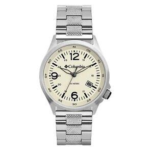 Columbia Canyon Ridge Quartz Chalk Dial Steel Bracelet Men's Watch CSC02-016
