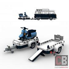 BAUANLEITUNG Eigenbau Vespa Roller blau Anhänger für LEGO® Steine MOC T1 10220