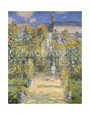 "MONET CLAUDE -THE ARTIST'S GARDEN AT VETHEUIL - ART PRINT POSTER 14"" X 11""(1944)"