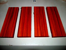 FOUR EXOTIC SANDED AFRICAN PADAUK KNIFE SCALES PISTOL GRIPS