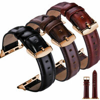 Genuine Leather Strap for Apple Watch Band 38 40 42 44mm iWatch Series 5 4 3 2 1