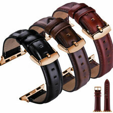 Genuine Leather Strap for Apple Watch Band 38 40 42 44mm iWatch Series 6 5 4 3 2