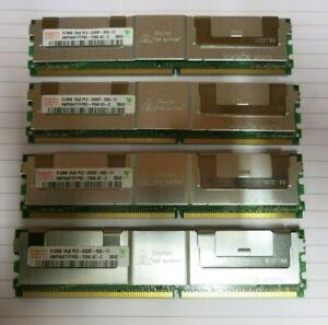 Hynix HMP564F7FFP8C-Y5N3 2GB (4x512MB) 1Rx8 PC2-5300 DDR2 ECC 240P CL5 Memory