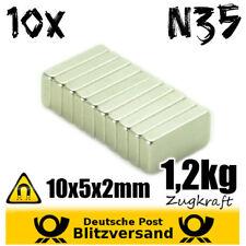 10x magneti al neodimio parallelepipedo 10x5x2mm n35-magneticamente piccole calamite magnetico-Set