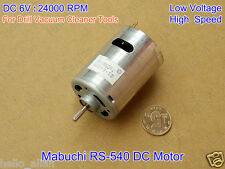 Mabuchi RS-540 6V DC 24000RPM 2.6A High Speed Carbon Brush Motor Vacuum Cleaner
