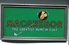 """Vintage  Golf MacGregor Reverse Painted Store Display Sign 1932 """"Built In Feel"""""""