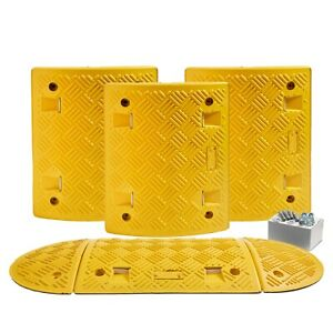 2.5 M All Yellow Speed Ramp Kit 10 mph 50 mm (Fixings Included)