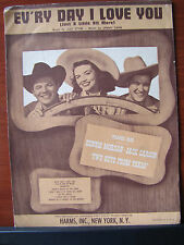 "Ev'ry Day I Love You ""Two Guys From Texas"" -1948 sheet music -Piano Vocal Guitar"