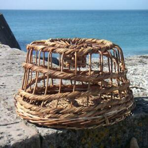 Decorative Lobster Pot - Large | Wicker Coastal Ornament