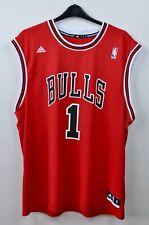 CHICAGO BULLS Jersey #1 DERRICK ROSE Mens XL 2012 Adidas NBA Shirt Vest Swingman