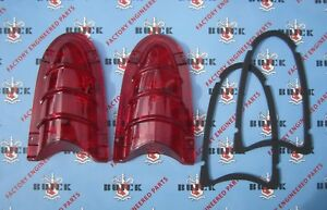 1955 Buick Tail Light Lens Kit. Special Century Super Roadmaster. Guide. 5946031