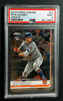 **2019 19 PETE ALONSO NEW YORK METS TOPPS CHROME ROOKIE DEBUT PSA 9 MINT #52