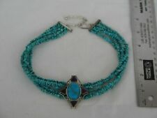 Incredible Jay King Sterling Silver & Turquoise Necklace