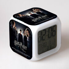 New Harry Potter Digital 7 Color Flash Changing Alarm/Night light Clock 10 style