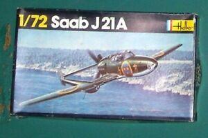 Heller 1/72 Saab J21A with vacform J21R conversion + extras