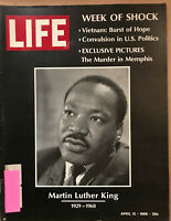 LIFE Magazine  Martin Luther King Jr. April 12, 1968, Murder in Memphis